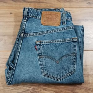 Levi's 550 relaxed fit with flaws